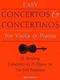 Concerto op. 36 D-Dur – Viola Oskar Rieding Partition laflutedepan.com