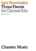 3 Pieces for clarinet solo Igor Stravinsky Partition laflutedepan.com