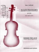 40 Duos progressifs Marc Carles Partition Alto - laflutedepan.com