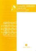 Clair de lune - Flûte piano DEBUSSY Partition laflutedepan