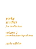 Yorke Studies For Double Bass Volume 2 laflutedepan.com