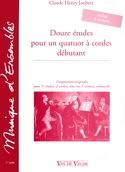 12 Etudes pour un quatuor à cordes débutant - laflutedepan.com