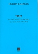 Trio op. 92 Charles Koechlin Partition Trios - laflutedepan.com