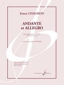 Andante et Allegro - Ernest Chausson - Partition - laflutedepan.com