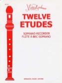 12 Etudes - Flûte à bec Soprano Mario Duschenes laflutedepan.com