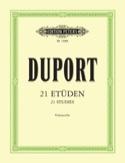 21 Etudes - Violoncelle Jean Louis Duport Partition laflutedepan.com