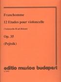 12 Etudes pour violoncelle op. 35 Auguste Franchomme laflutedepan.com