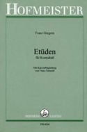 Etüden für Kontrabass Franz Gregora Partition laflutedepan.com