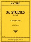 36 Etudes op. 20 - Contrebasse Heinrich Ernst Kayser laflutedepan.com