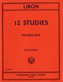 12 Studies – String Bass Philippe Libon Partition laflutedepan.com
