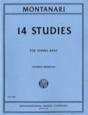 14 Studies – String bass Carlo Montanari Partition laflutedepan.com