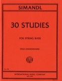30 Studies - String bass Franz Simandl Partition laflutedepan.com