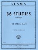 66 Studies – String bass Anton Slama Partition laflutedepan.com