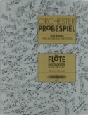 Orchester Probespiel - Flöte / Piccolo Partition laflutedepan.com