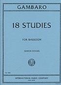 18 Studies -Bassoon Giovanni Battista Gambaro laflutedepan.com