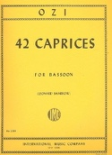 42 Caprices - Bassoon Etienne Ozi Partition Basson - laflutedepan.com
