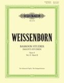 Fagott Studien op. 8 - Bd. 2 Julius Weissenborn laflutedepan.com