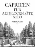 Capricen für Altblockflöte solo Johann Joachim Quantz laflutedepan.com