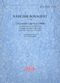 12 Grands caprices 1864 Narcisse Bousquet Partition laflutedepan.com