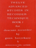 12 Advanced Studies In Recorder Technique Volume 1 laflutedepan.com