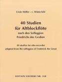 40 Studien für Altblockflöte - laflutedepan.com