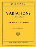 Variations on a theme by Rossini - Flute piano CHOPIN laflutedepan.com