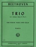 Trio op. 9 n° 3 C minor -Parts BEETHOVEN Partition laflutedepan.com