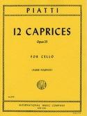 12 Caprices op. 25 Alfredo C. Piatti Partition laflutedepan.com