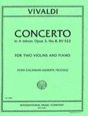 Concerto A minor op. 3/8 RV 522 VIVALDI Partition laflutedepan.com