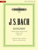 Konzert BWV 1043 -2 Violinen Klavier BACH Partition laflutedepan.com