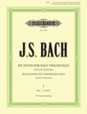 6 Suites transcrites pour Contrebasse volume 1 BACH laflutedepan.com