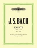 Sonate g-moll BWV 1030b - Oboe Flöte Bc BACH laflutedepan.com