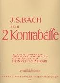 Bach für 2 Kontrabässe - Heft 1 laflutedepan.com