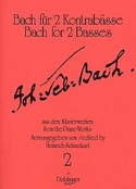 Bach für 2 Kontrabässe - Heft 2 laflutedepan.com