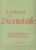 Bach für 2 Kontrabässe - Heft 3 laflutedepan.com
