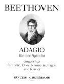 Adagio für eine Spieluhr -Flöte Oboe Klarinette Fagott Klavier laflutedepan.com