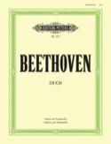 Duos - Violin Cello BEETHOVEN Partition Duos - laflutedepan.com