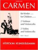 Carmen für Kinder, Heft 1 - 2 Violinen Cello - Stimmen laflutedepan.com