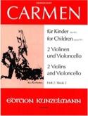 Carmen für Kinder, Heft 2 - 2 Violinen Cello - Parts laflutedepan.com