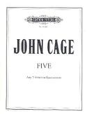 Five 1988 John Cage Partition Quintettes - laflutedepan.com