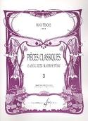 Pièces Classiques Volume 3 – Hautbois Partition laflutedepan.com