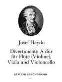 Divertimento A-Dur -Flöte Violine Viola Violoncello laflutedepan.com