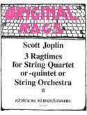 3 Ragtimes String Quartet or Quintet, Volume 2 - laflutedepan.com