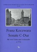 Sonate C-dur -2 Violen Cello Franz Koczwara laflutedepan.com