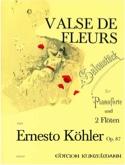 Valse des fleurs op. 87 –2 Flöten Klavier laflutedepan.com