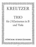 Trio - 2 Klarinetten in B Viola Conradin Kreutzer laflutedepan.com