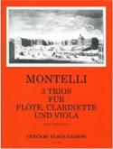 3 Trios -Flöten Klarinette Viola Montelli Partition laflutedepan.com