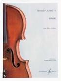 Songe Bernard Fleurette Partition Violon - laflutedepan.com