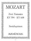 2 Fantasien KV 594 und KV 608 -Stimmen MOZART laflutedepan.com