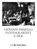Flötenquartett G-Dur -Stimmen Giovanni Paisiello laflutedepan.com